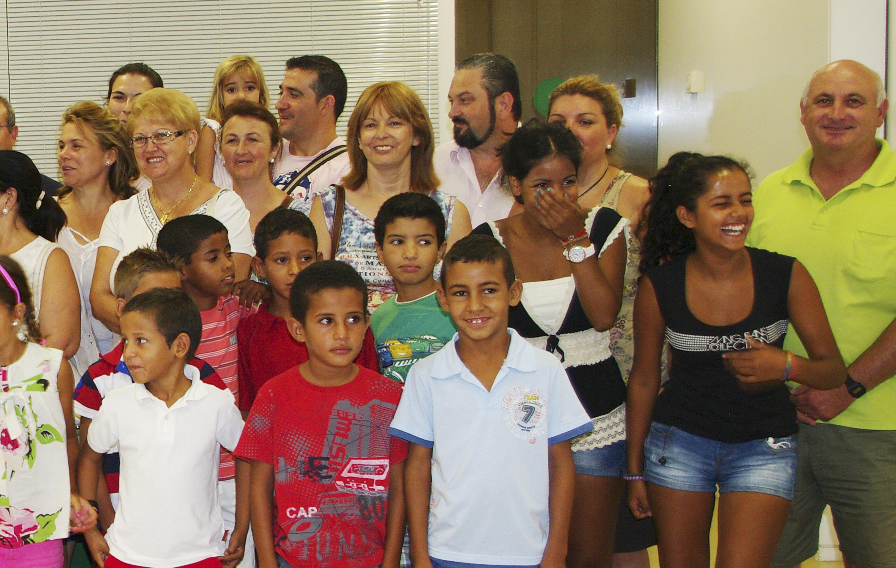 Diputación recepción niños