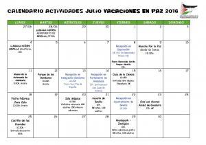 Calendario actividades VeP 2016